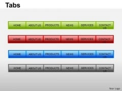 PowerPoint Templates Teamwork Tabs Ppt Slide