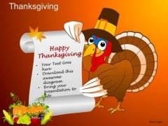 PowerPoint Templates Turkey Thanksgiving Ppt Theme