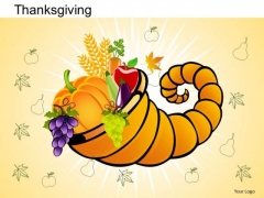 PowerPoint Theme Bountiful Thanksgiving Ppt Template