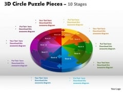 PowerPoint Theme Business Circle Puzzle Ppt Process