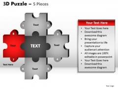 PowerPoint Theme Business Puzzle Pieces Ppt Process
