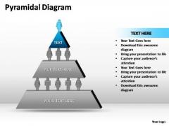 PowerPoint Theme Business Pyramidal Diagram Ppt Slides