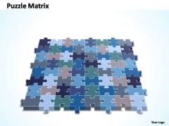 PowerPoint Theme Chart 8x8 Rectangular Jigsaw Puzzle Matrix Ppt Design