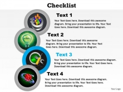 PowerPoint Theme Chart Checklist Ppt Theme