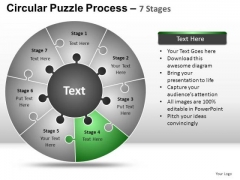 PowerPoint Theme Chart Circular Puzzle Ppt Backgrounds