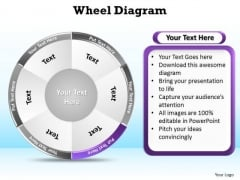 PowerPoint Theme Chart Wheel Diagram Ppt Backgrounds