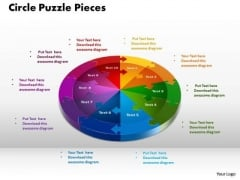 PowerPoint Theme Circle Puzzle Graphic Ppt Design