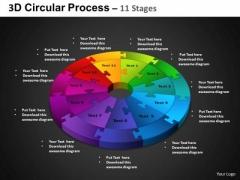 PowerPoint Theme Circular Chart Circular Process Ppt Process