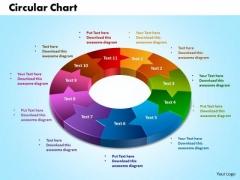 PowerPoint Theme Circular Charts Company Ppt Presentation