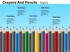 PowerPoint Theme Colorful Pencils Educational PowerPoint Templates