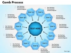PowerPoint Theme Comb Process Sales Ppt Themes