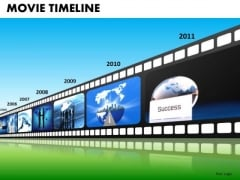 PowerPoint Theme Company Growth Filmstrip Timeline Ppt Presentation