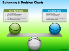 PowerPoint Theme Corporate Designs Balancing Decision Charts Ppt Slide