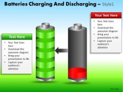 PowerPoint Theme Corporate Designs Batteries Charging Ppt Theme