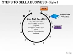 PowerPoint Theme Corporate Strategy Steps To Sell A Business Ppt Designs