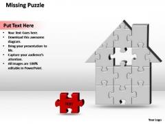 PowerPoint Theme Diagram Home H Missing Puzzle Piece Ppt Slide Designs
