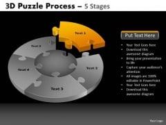 PowerPoint Theme Diagram Pie Chart Puzzle Process Ppt Slide