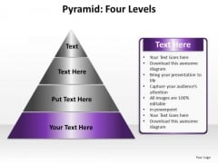 PowerPoint Theme Download Pyramid Four Ppt Backgrounds