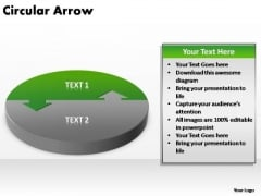 PowerPoint Theme Editable Circular Arrow Ppt Presentation