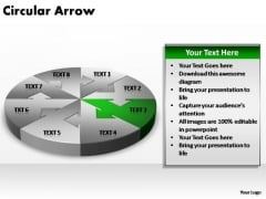 PowerPoint Theme Editable Circular Arrow Ppt Slides