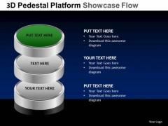 PowerPoint Theme Editable Pedestal Platform Showcase Ppt Process