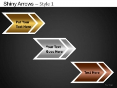 PowerPoint Theme Executive Competition Shiny Arrows Ppt Slides