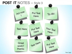 PowerPoint Theme Executive Teamwork Post It Notes Ppt Layout