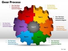 PowerPoint Theme Gear Process Marketing Ppt Template