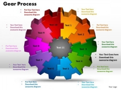PowerPoint Theme Gear Process Success Ppt Design Slides