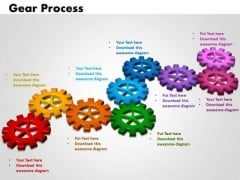 PowerPoint Theme Gears Process Business Ppt Themes