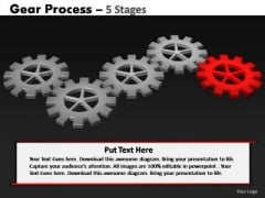 PowerPoint Theme Graphic Gears Process Ppt Theme