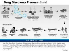 PowerPoint Theme Growth Drug Discovery Process Ppt Slides