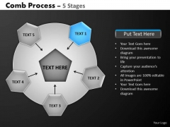 PowerPoint Theme Growth Hub And Spokes Process Ppt Slide