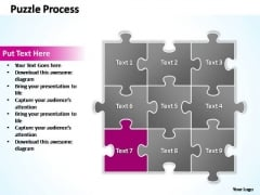 PowerPoint Theme Growth Puzzle Ppt Slides
