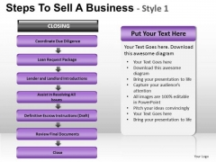 PowerPoint Theme Growth Steps To Sell Ppt Slide