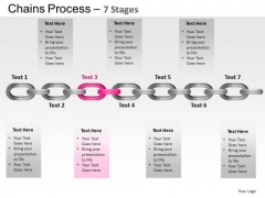 PowerPoint Theme Leadership Chains Process Ppt Slide