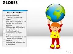 PowerPoint Theme Leadership Globes Ppt Slidelayout