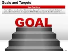 PowerPoint Theme Leadership Goals And Targets Ppt Layouts