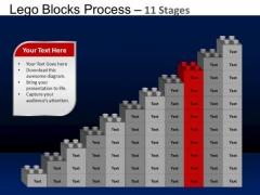 PowerPoint Theme Leadership Lego Blocks Ppt Templates