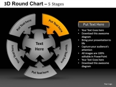 PowerPoint Theme Leadership Round Chart Ppt Theme