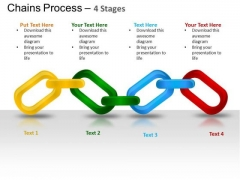 PowerPoint Theme Marketing Chains Process Ppt Template