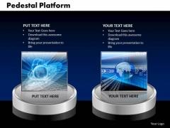 PowerPoint Theme Pedestal Platform Global Ppt Design