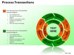 PowerPoint Theme Process Transaction Teamwork Ppt Templates