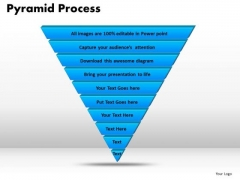 PowerPoint Theme Pyramid Process Business Ppt Themes