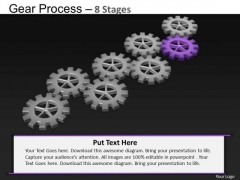 PowerPoint Theme Sales Gears Process Ppt Template