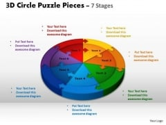 PowerPoint Theme Strategy Circle Puzzle Ppt Presentation