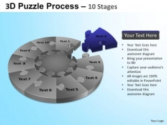 PowerPoint Theme Strategy Puzzle Segment Pie Chart Ppt Presentation
