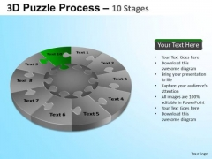 PowerPoint Theme Strategy Puzzle Segment Pie Chart Ppt Process