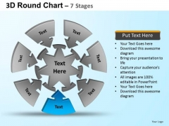 PowerPoint Theme Strategy Round Process Flow Chart Ppt Template