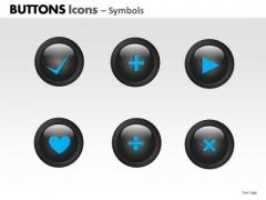 PowerPoint Theme Success Buttons Icons Ppt Designs